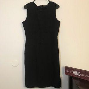Banana Republic Black sleeveless fitted work dress